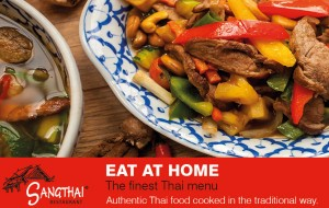 Sangthai Thai food dish as button for Sangthai Thai takeaway or eat-at-home menu