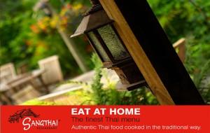 Sangthai Thai food dish as button for Sangthai Thai takeaway or eat-at-home menu
